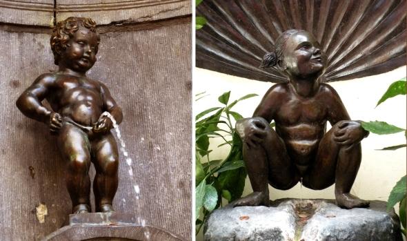 Jedne z emblematów Brukseli - Manneken Pis i Jeanneke Pis, rzeźby sikających dzieci, niestety niekoniecznie poprawne politycznie. Co na to UE? źródło: internet