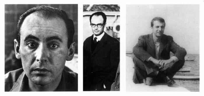 Od lewej architekci: Ricardo Porro, Roberto Gottardi i Vittorio Garatti, fot. Internet